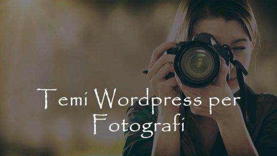 Migliori temi WordPress per fotografi