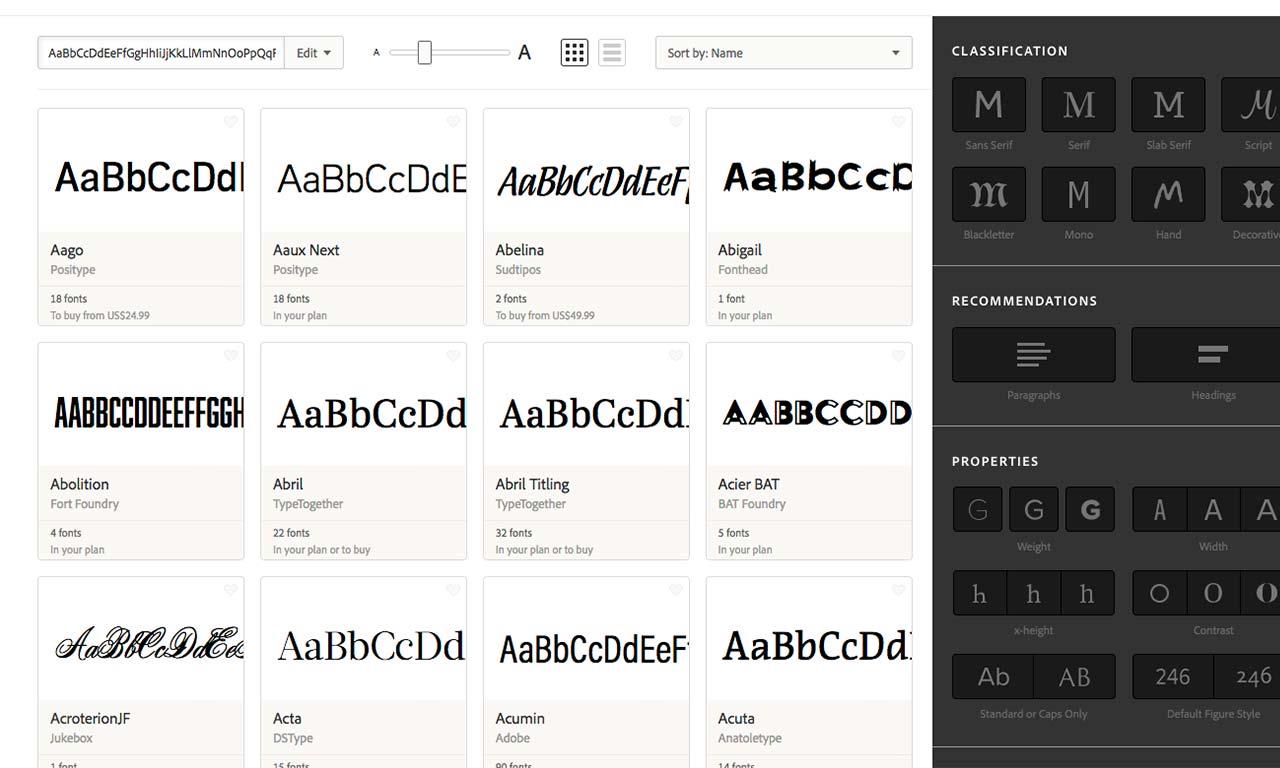 come usare typekit in un sito web