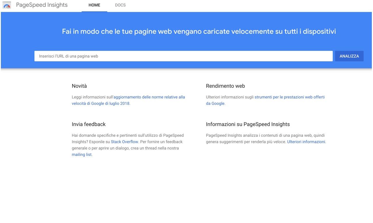 Google PageSpeed Insights: rimanda immagini fuori schermo