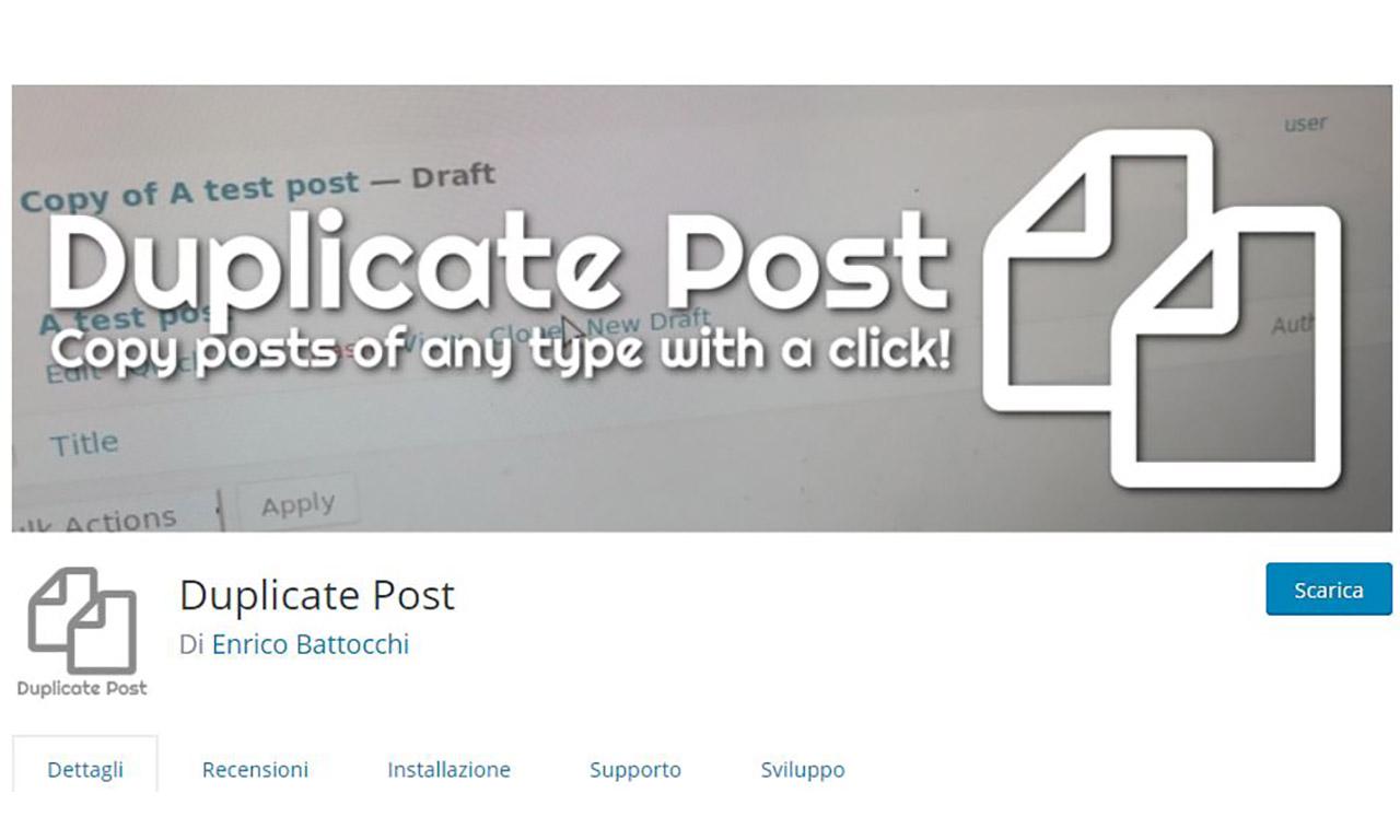 Come duplicare articoli e pagine su WordPress