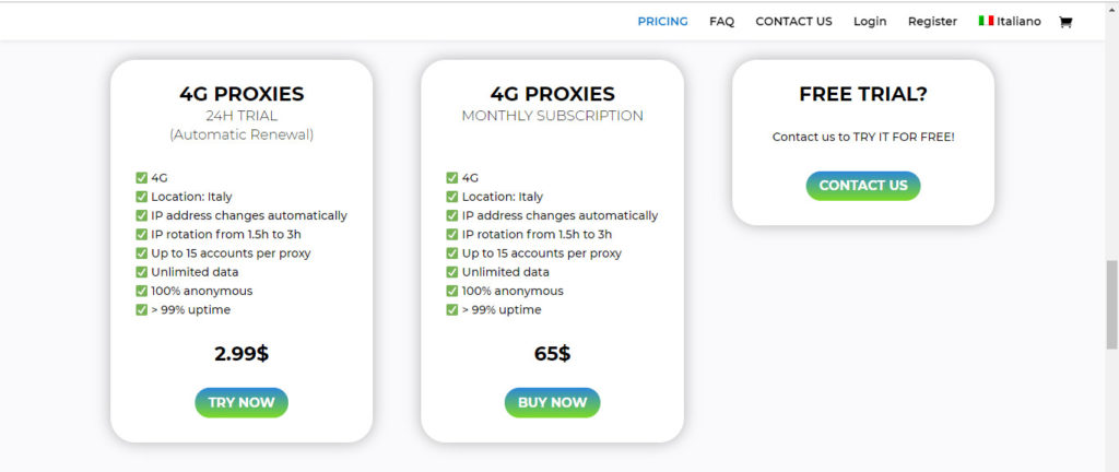 Pricing FrogProxy