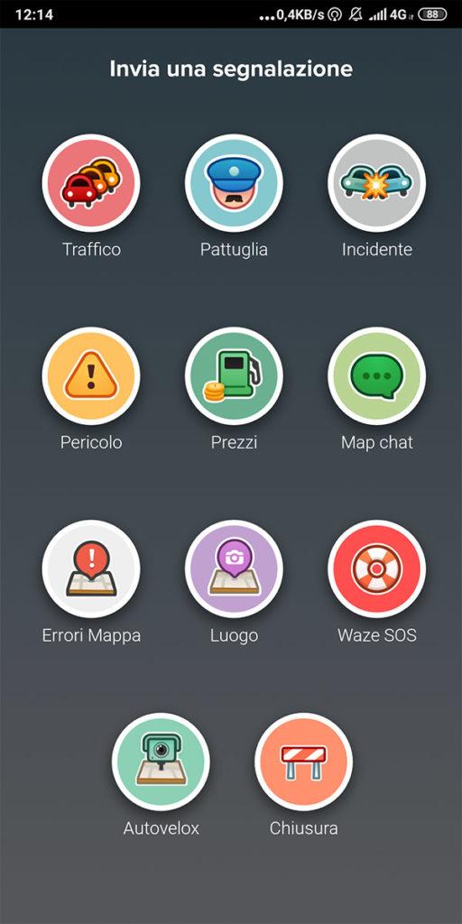 Inviare una segnalazione con Waze