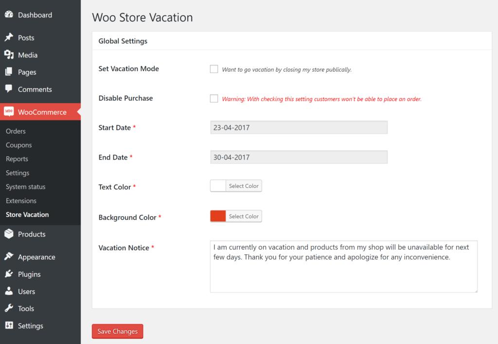 Woo Store Vacation - Plugin chiusura ferie
