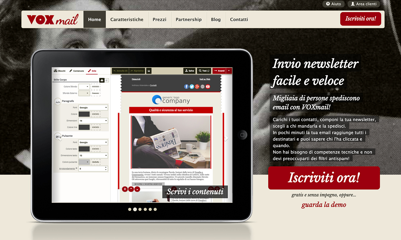 VoxMail alternativa italiana a mailchimp