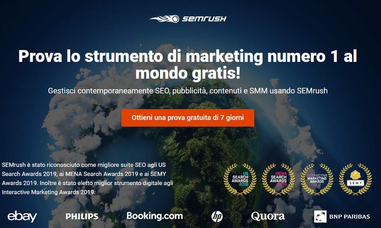 SEMrush strumento di web marketing SEO