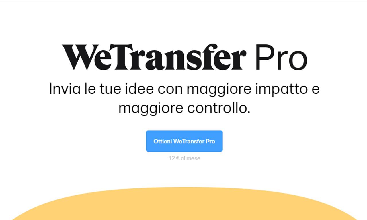 WeTransfer Pro: quanto costa e cosa offre