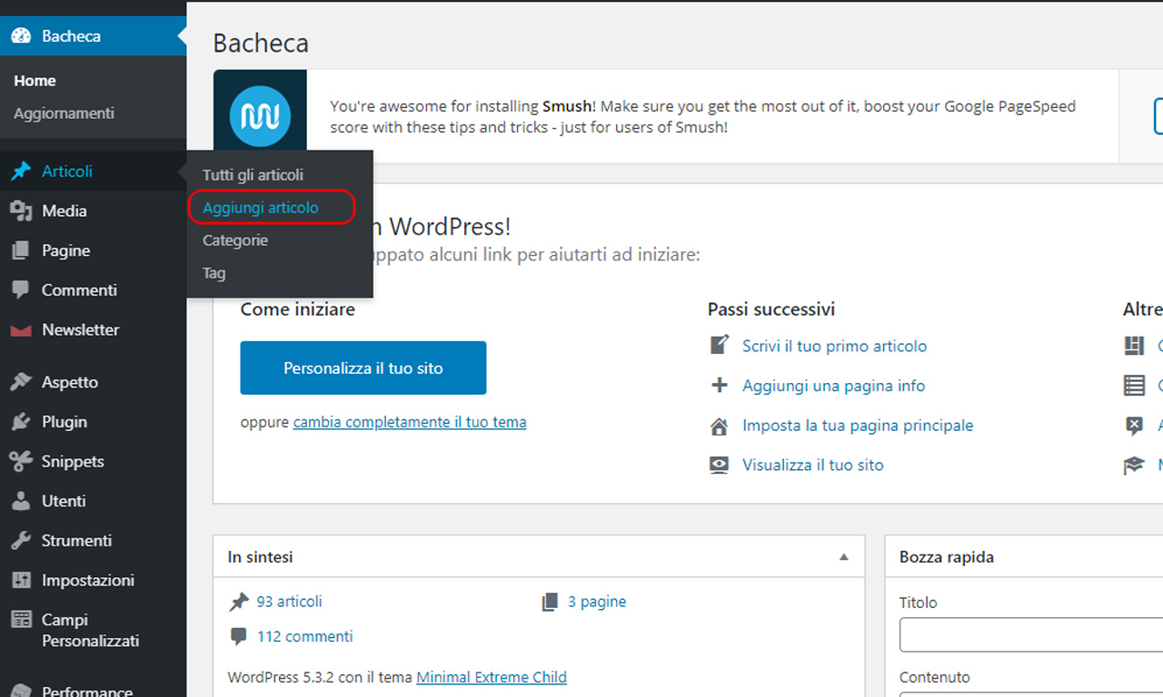 wordpress come creare un articolo