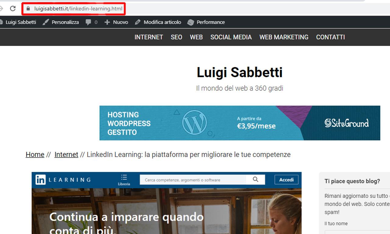 WordPress: cosa sono i permalink