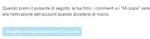 disabilita l account