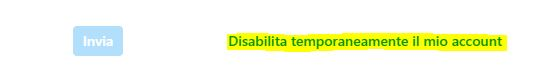 disabilitare temporaneamente l'account instagram