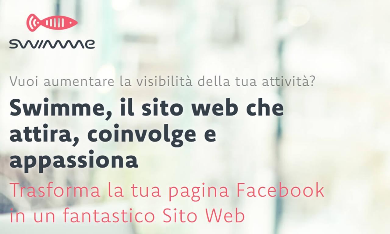 Swimme: trasforma la tua pagina Facebook in un sito