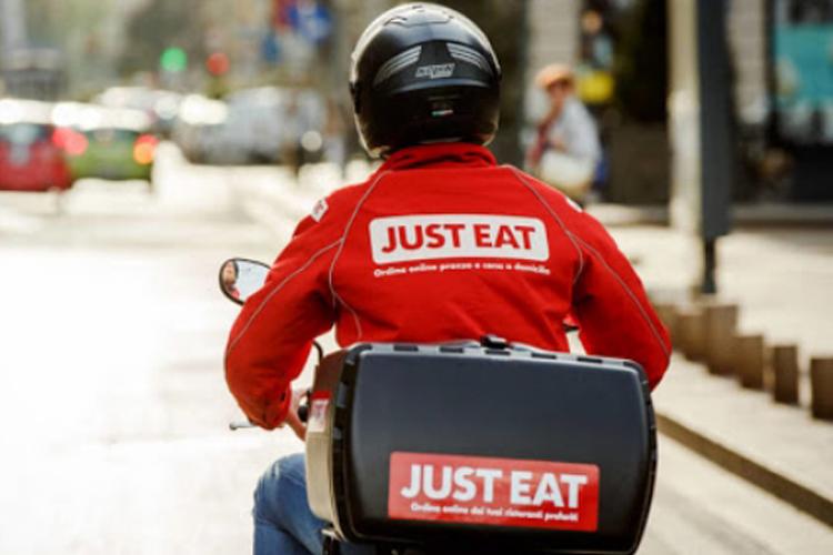 Un rider Just Eat