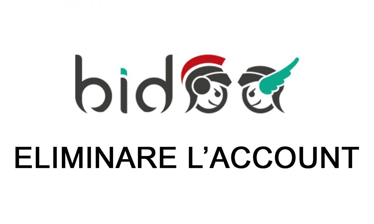 Come eliminare l'account Bidoo