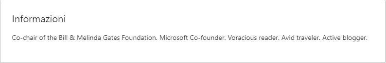 Headline utilizzata da Bill Gates