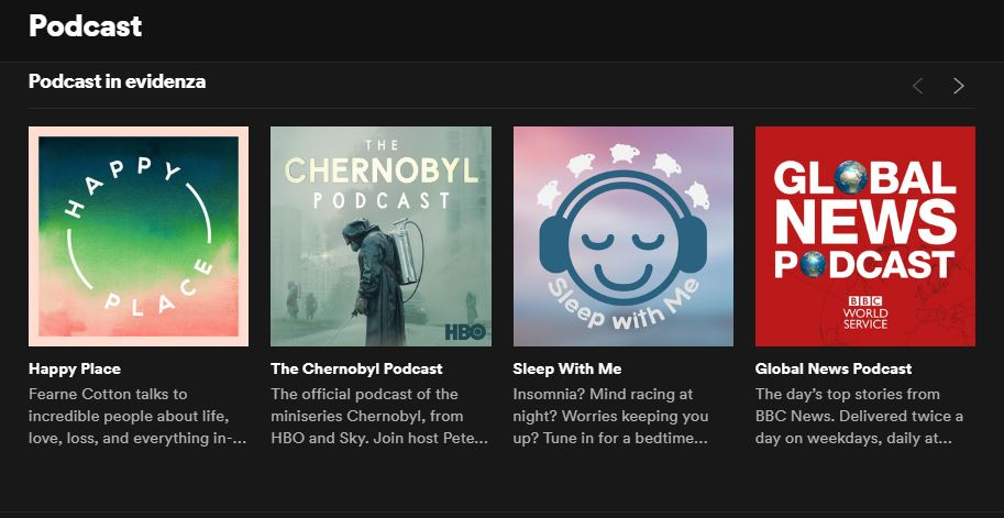 podcast su Spotify