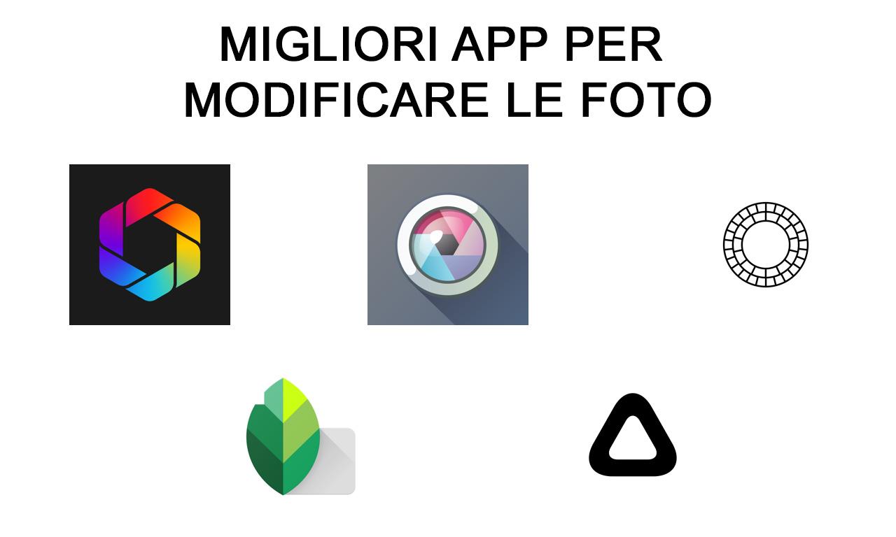 Le migliori app per modificare foto