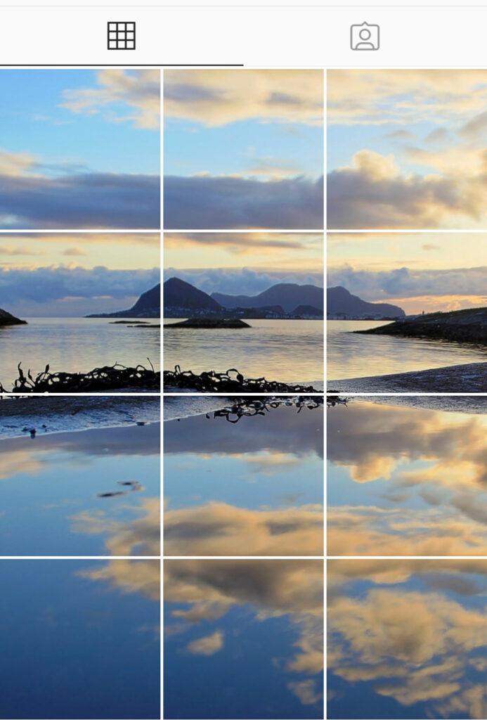 Esempio di mosaico su Instagram - crediit photonia