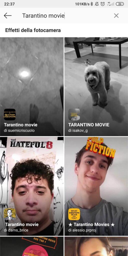 Tarantino movie