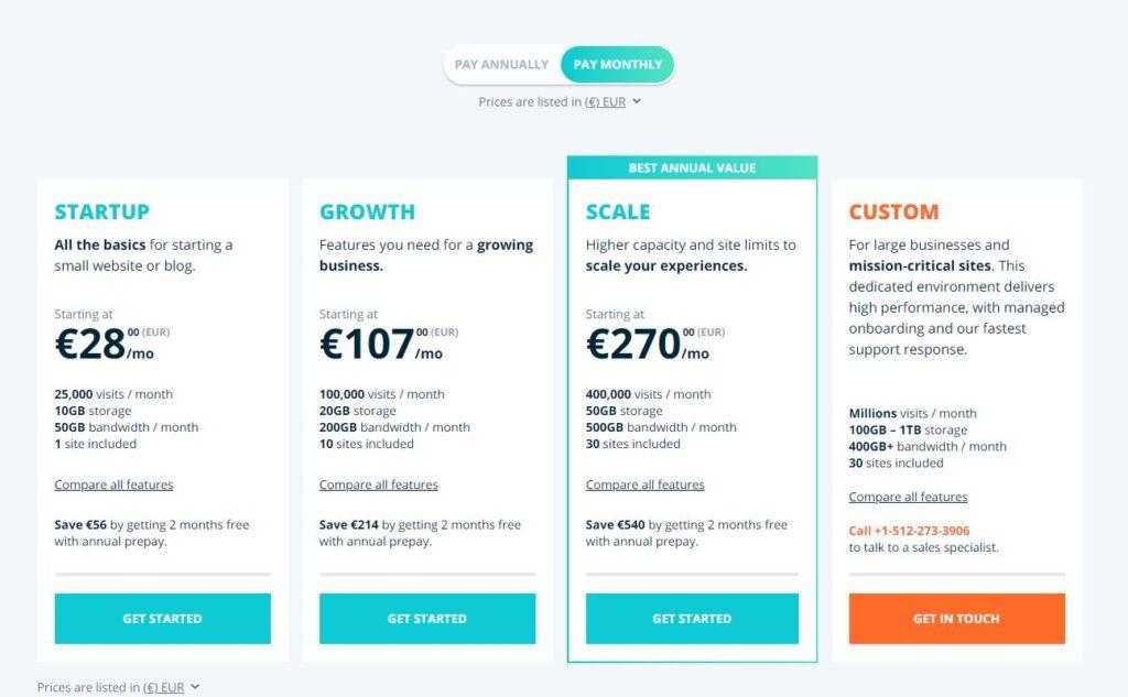 Listino prezzi WpEngine