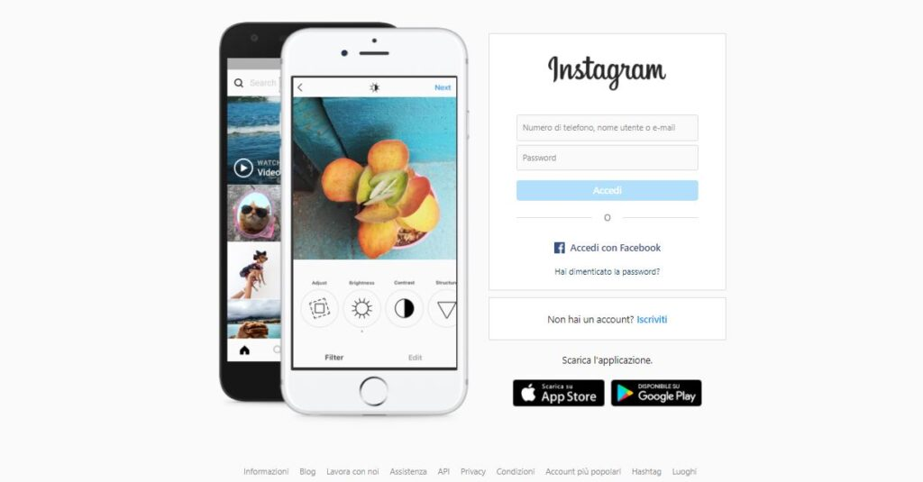 schermata registrazione instagram