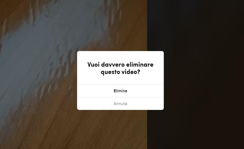 Eliminare video tiktok pc
