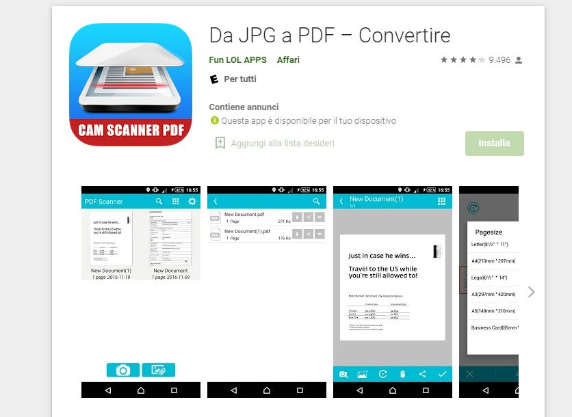 JPD a PDF convertire app android