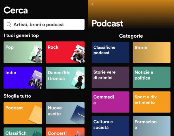 ascoltare un podcast