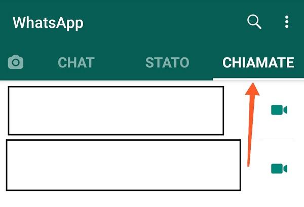 cos'è il registro chiamate whatsapp