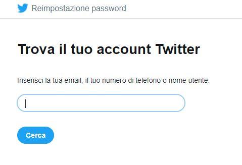reimpostazione password