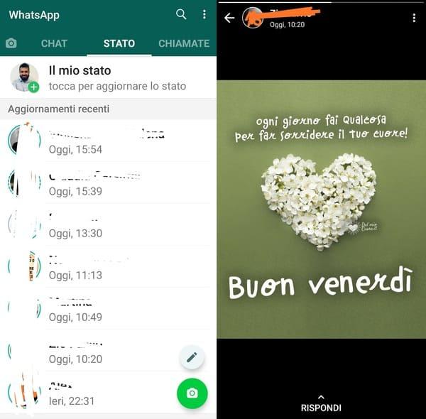 visualizzare storie whatsapp