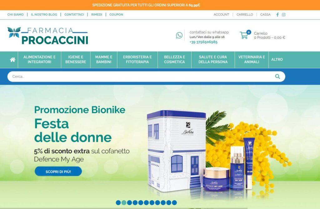 Farmacia Procaccini ecommerce