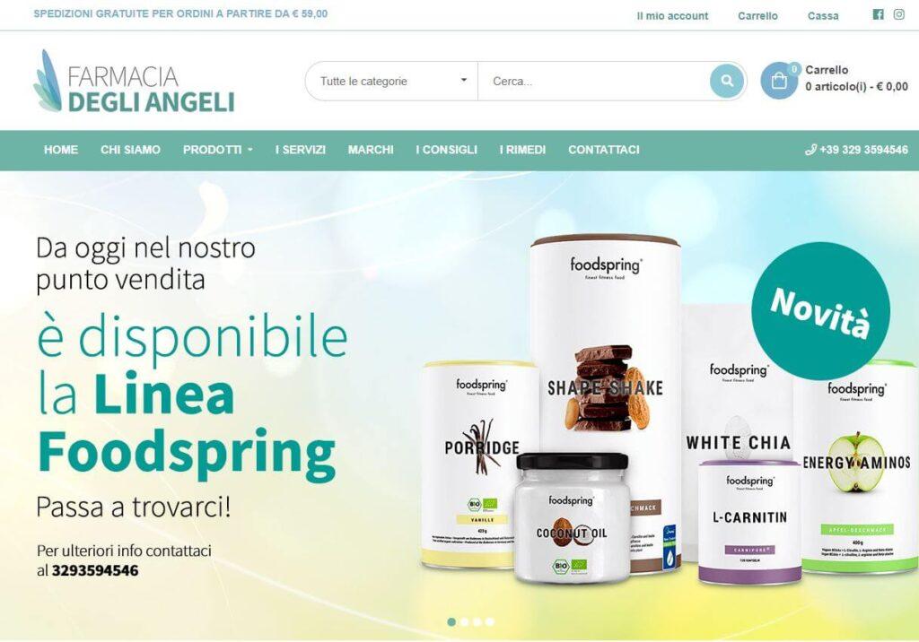 Farmacia degli angeli ecommerce