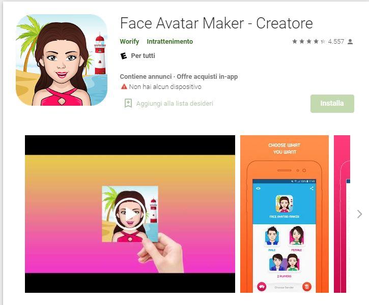 Face Avatar Maker Creatore - App per creare avatar