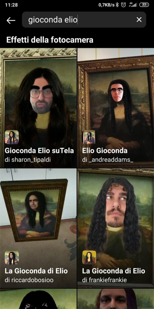 Filtro Instagram Elio Gioconda