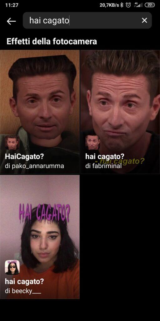 Filtro Instagram Pintus Hai Cagato