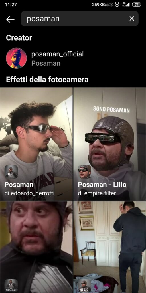 Filtro Instagram Posaman